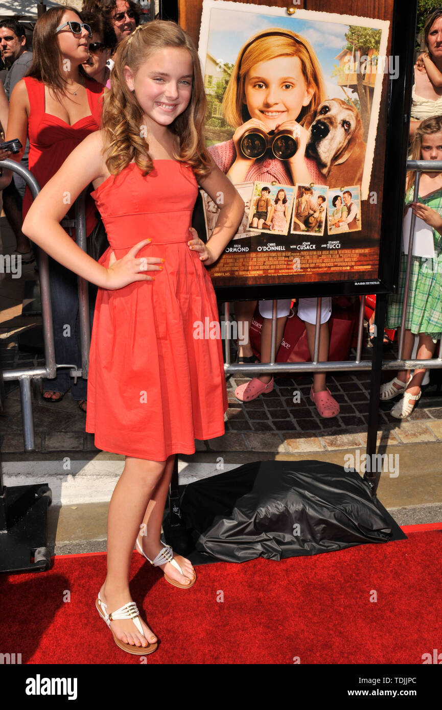 LOS ANGELES, CA. June 14, 2008: Madison Davenport at the world premiere of 'Kit Kittredge: An American Girl' at The Grove in Los Angeles. © 2008 Paul Smith / Featureflash - Stock Image