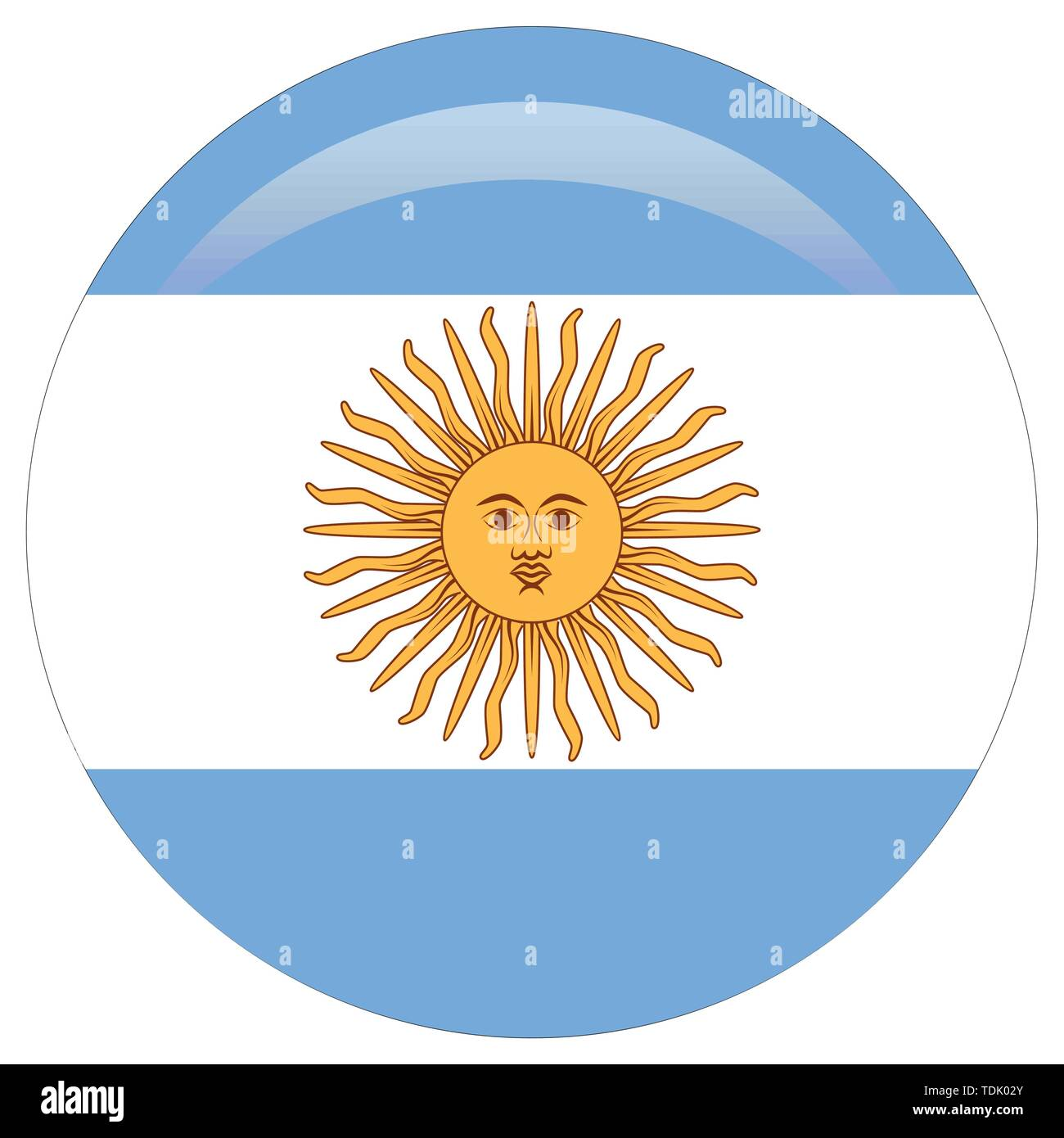 original and simple Argentina flag isolated in official colors and Proportion Correctly. - Stock Image