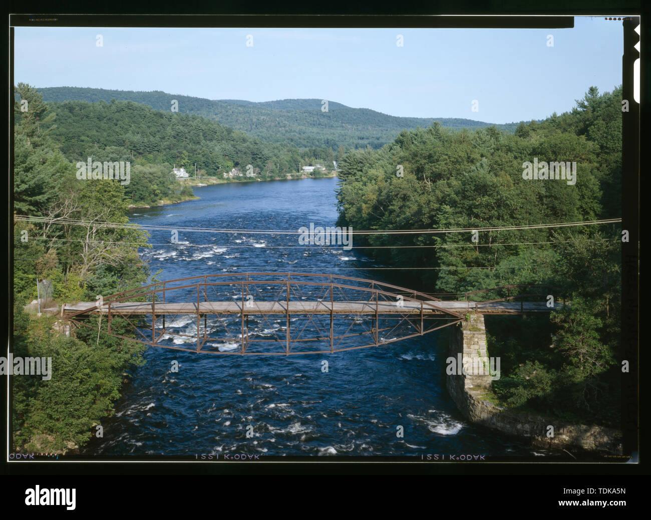 - Old Corinth Road Bridge, Spanning Sacandaga River at Corinth Road, Hadley, Saratoga County, NY - Stock Image