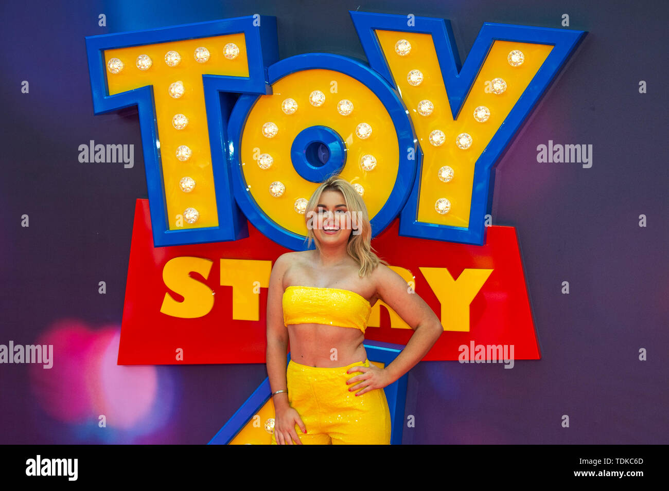London, United Kingdom. 16 June 2019. Tallia Storm attends the European Premiere of 'Toy Story 4' held at the Odeon Luxe, Leicester Square in central London. Credit: Peter Manning/Alamy Live News - Stock Image