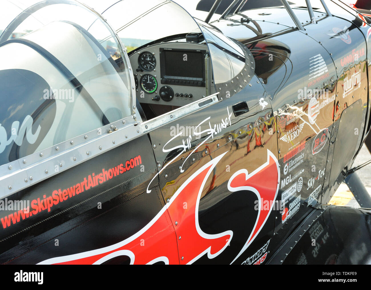 Cape Girardeau, MO, USA. 17th May, 2019. The Skip Stewart Bi-Plane during The Cape Girardeau Air Show, in Cape Girardeau, MO. Mandatory Credit: Kevin Langley/Sports South Media/CSM/Alamy Live News - Stock Image