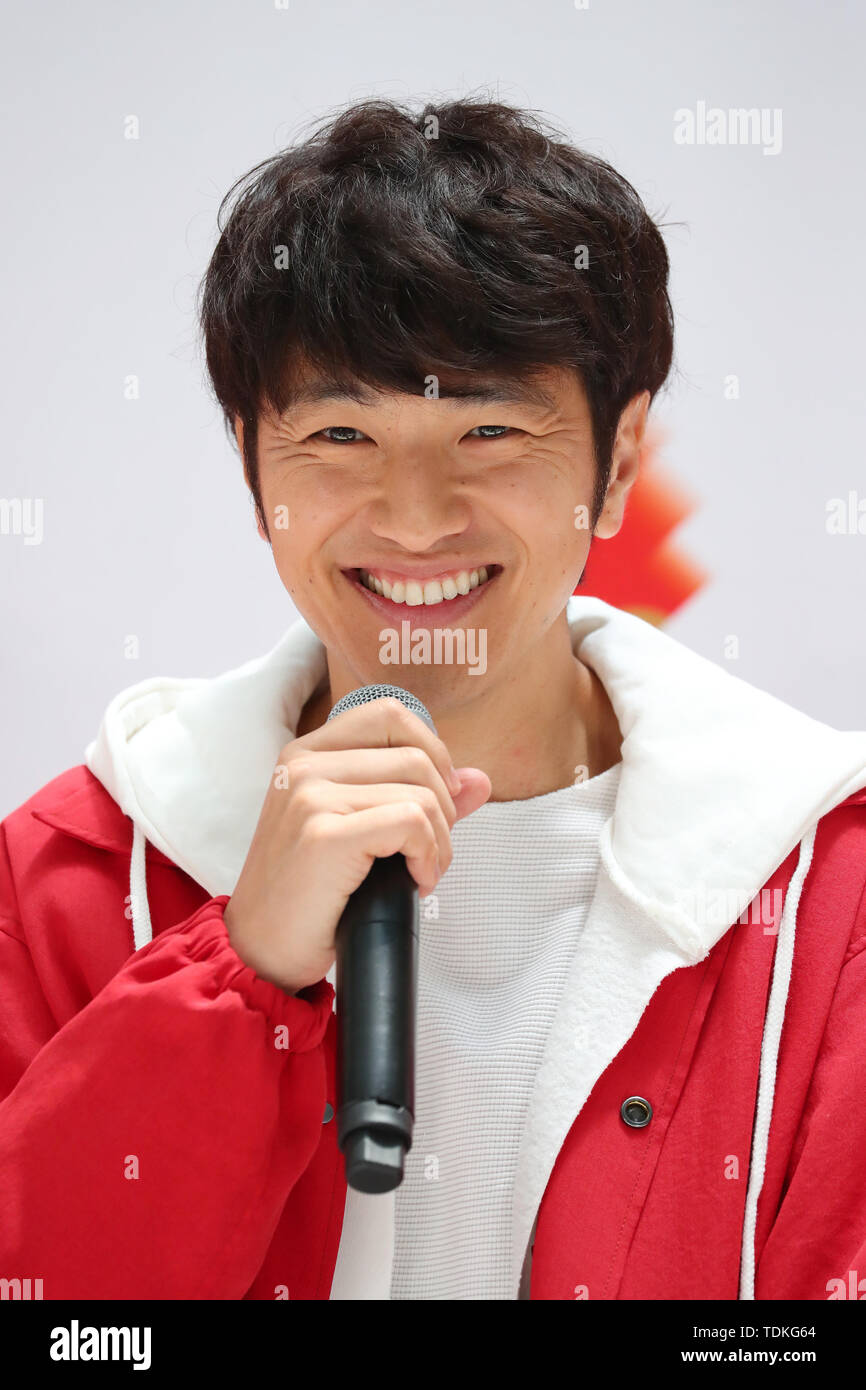 Yujin Kitagawa, JUNE 17, 2019 : Nippon Life Holds Press Conference on Recruiting Torch Runners for the Tokyo 2020 Olympic Games, in Tokyo, Japan. Credit: YUTAKA/AFLO SPORT/Alamy Live News - Stock Image