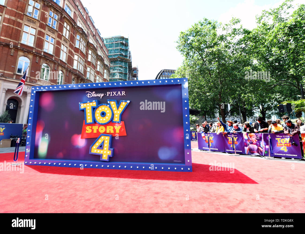 London, UK. 16th June, 2019. Atmosphere at the European Premiere of Toy Story 4 at Odeon Luxe, Leicester Square in London. Credit: SOPA Images Limited/Alamy Live News - Stock Image