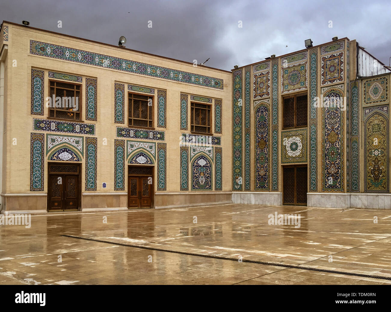 holy shrine of Shah Ceragh in Shiraz Iran. - Stock Image