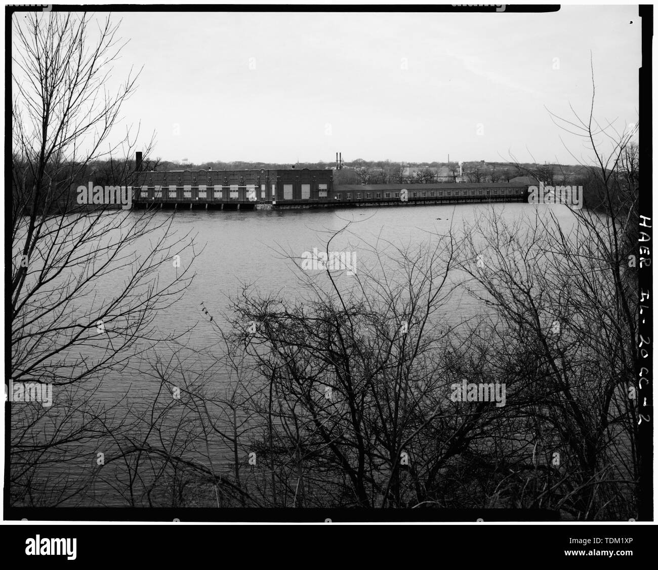 Overall view; looking SW. (Harms) - Rock Island Arsenal, Building No. 160, Sylvan Drive, Rock Island, Rock Island County, IL; Central Engineering Company of Davenport - Stock Image