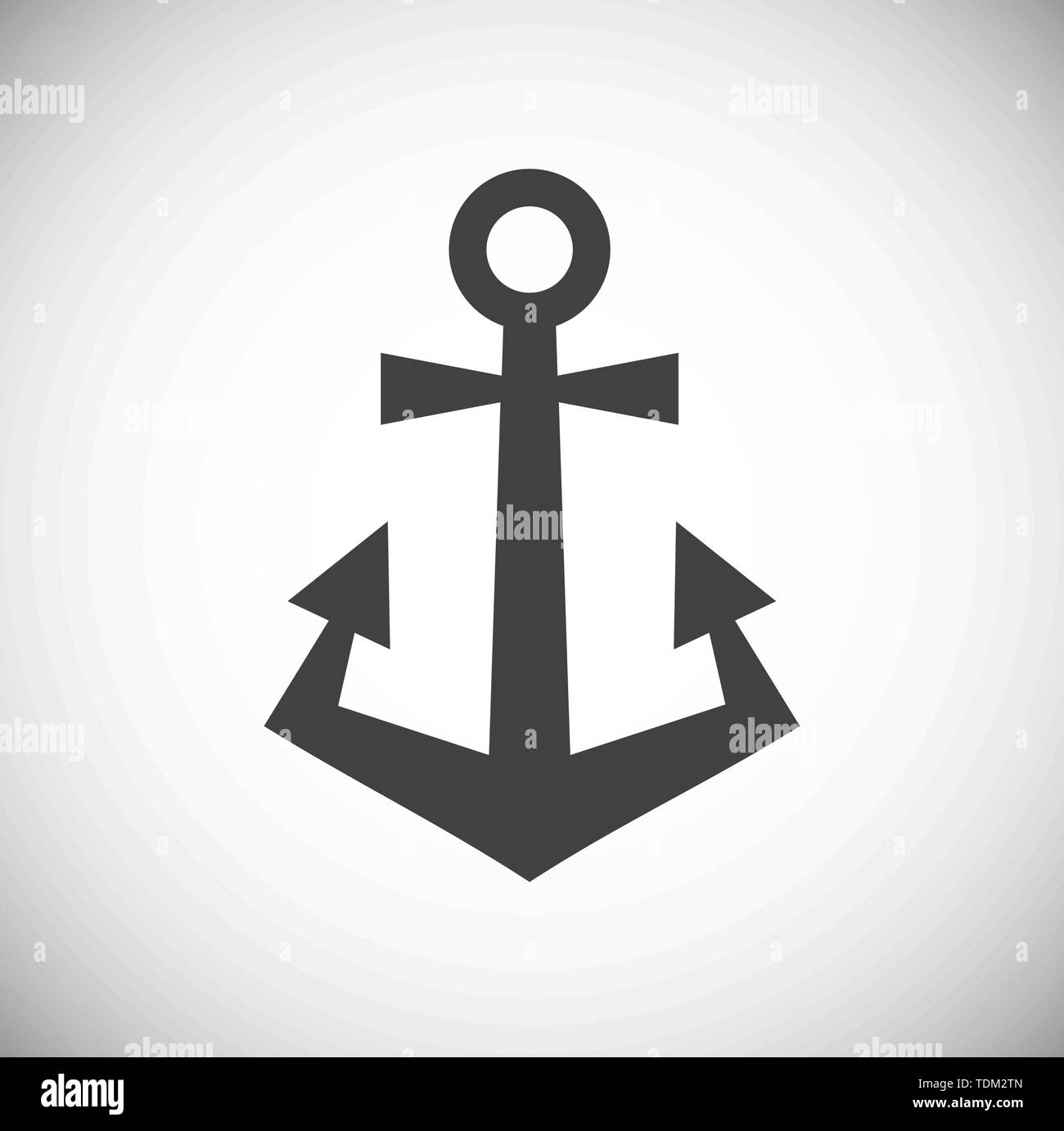 Anchor icon on background for graphic and web design. Simple illustration. Internet concept symbol for website button or mobile app. - Stock Image