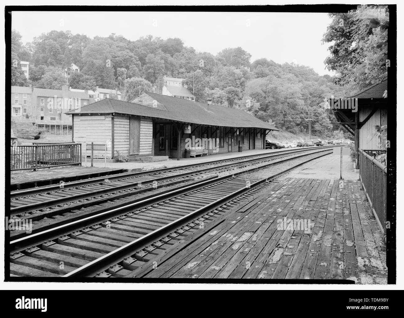 PERSPECTIVE VIEW OF STATION, LOOKING W  - Baltimore and Ohio