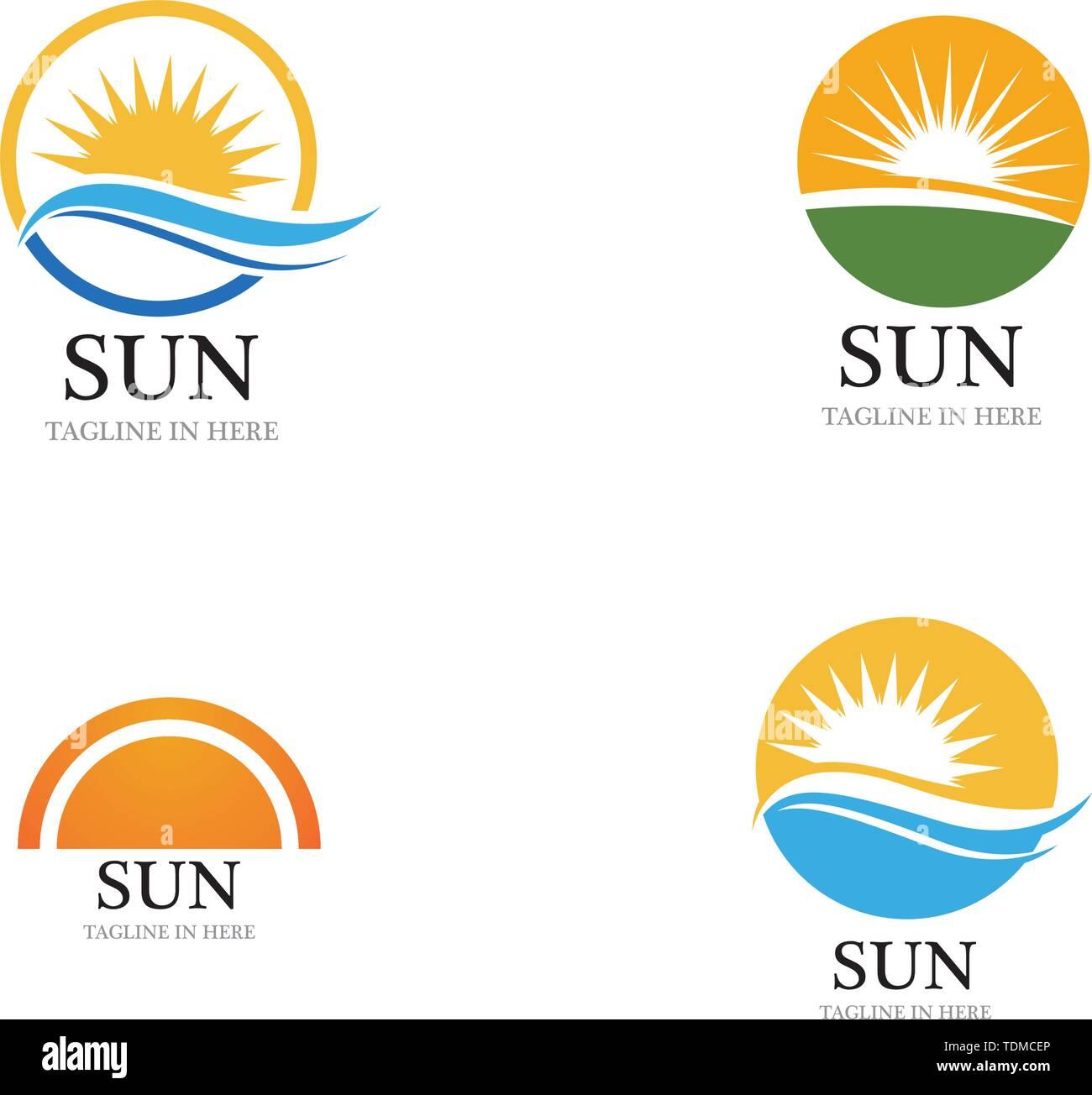 Sun Vector illustration Icon Logo Template design - Stock Image