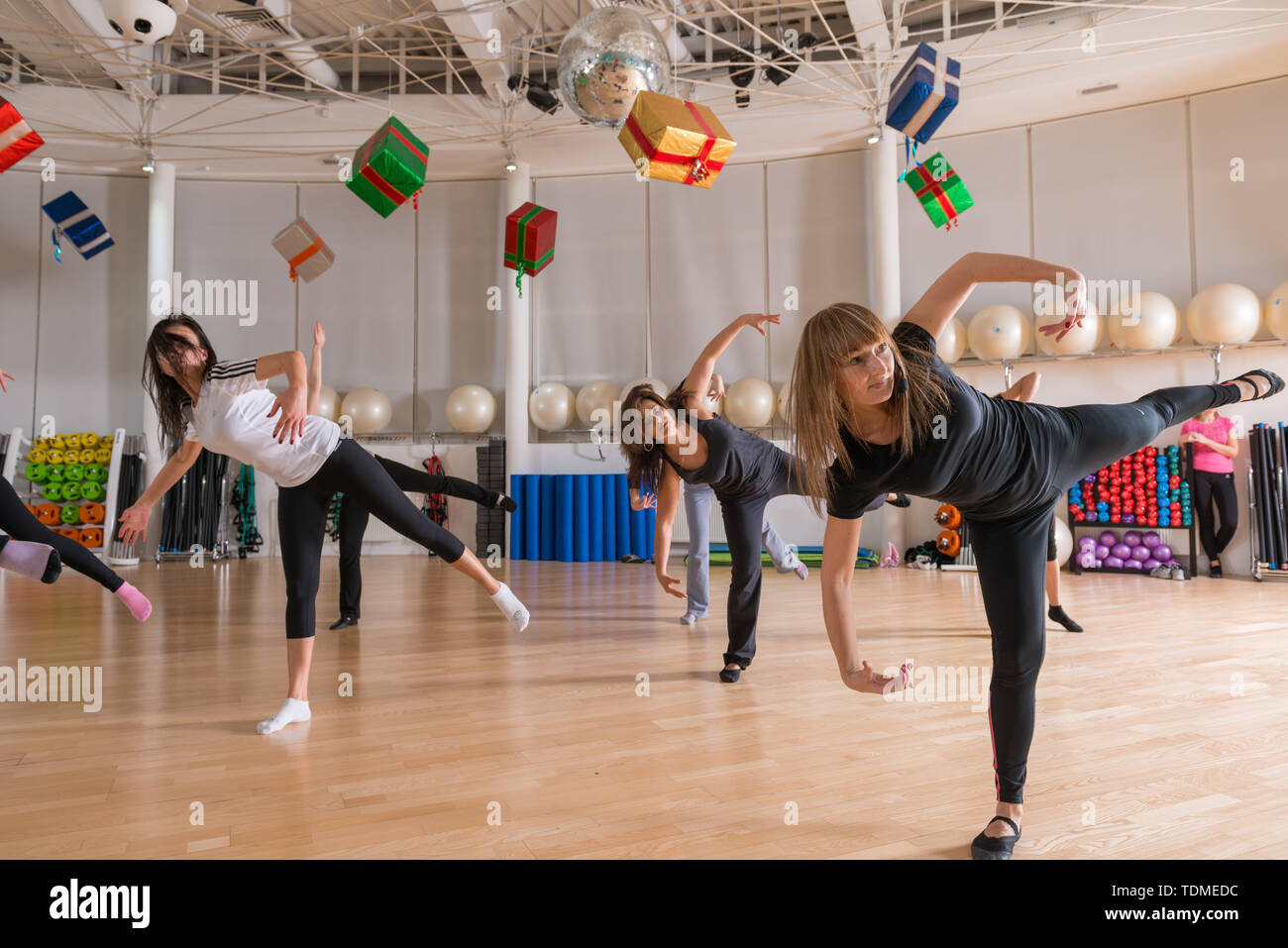 Dance class for women - Stock Image