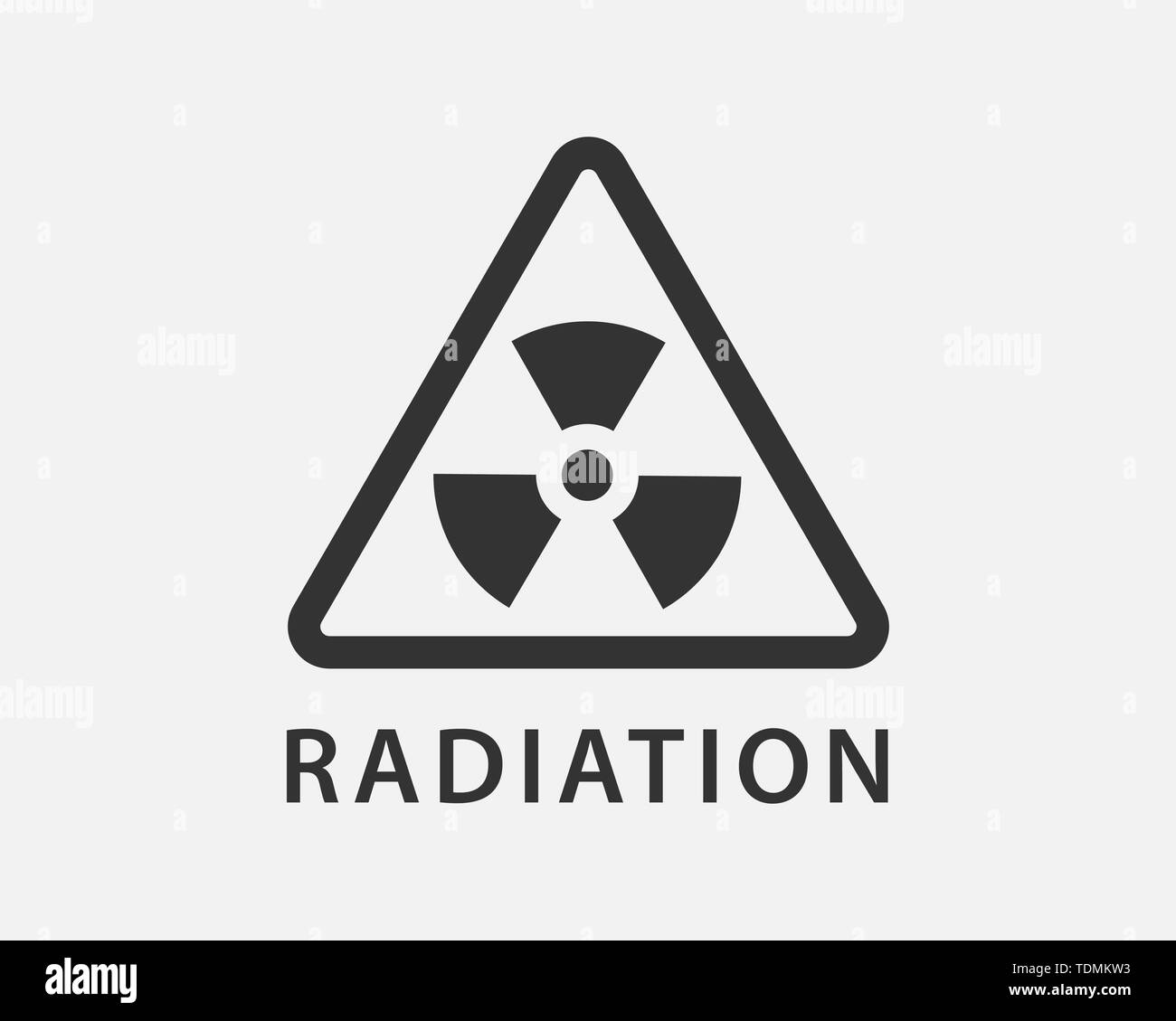 Radiation icon vector. Warning radioactive sign danger symbol. - Stock Vector