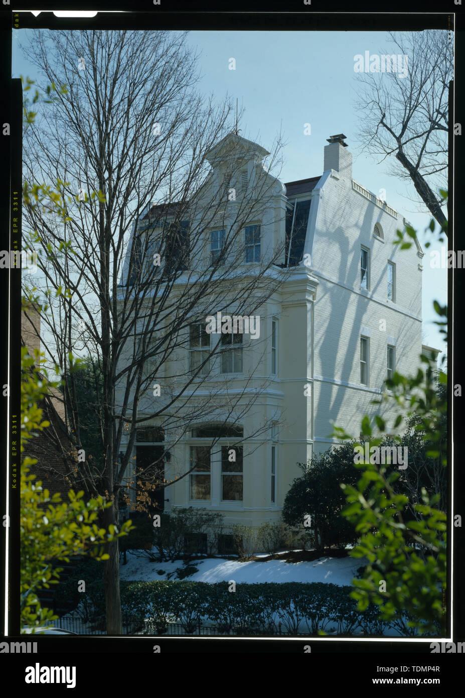 Perspective view (duplicate of HABS No. DC-848-1) - Gustav Freibus House, 3038 Dumbarton Street, Northwest, Washington, District of Columbia, DC - Stock Image