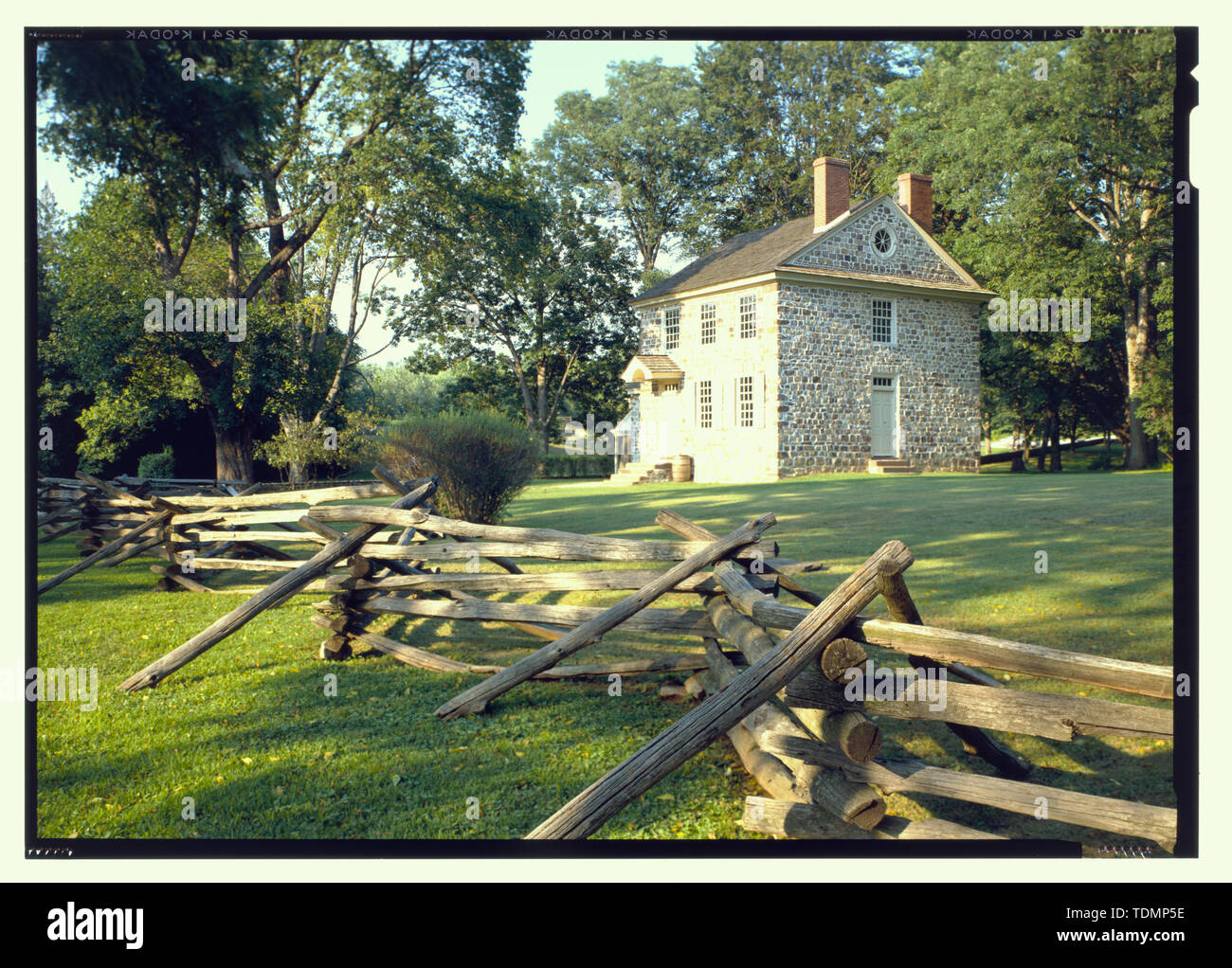 Perspective view (duplicate of HABS No. PA-1171-26) - Isaac Potts House, South of Schuylkill River, King of Prussia, Montgomery County, PA - Stock Image