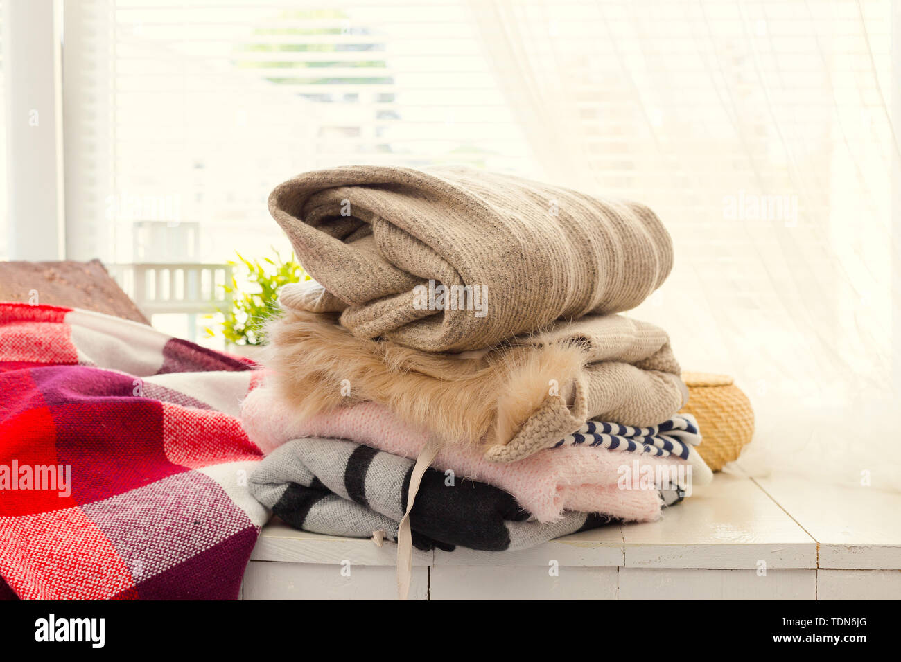 Stack of  clothes - Stock Image