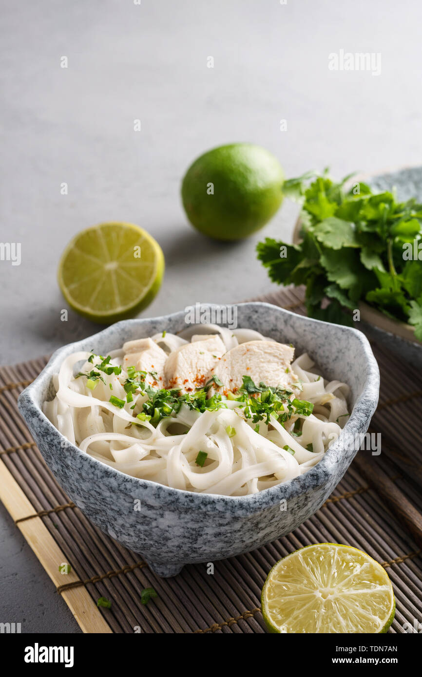 Chicken Pho Noodle Soup Stock Photos & Chicken Pho Noodle