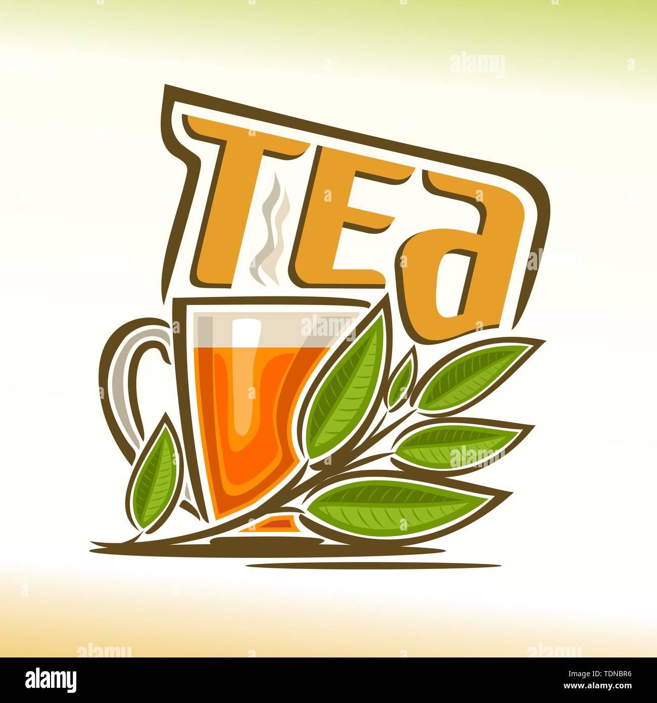 Vector logo for tea  - Stock Image