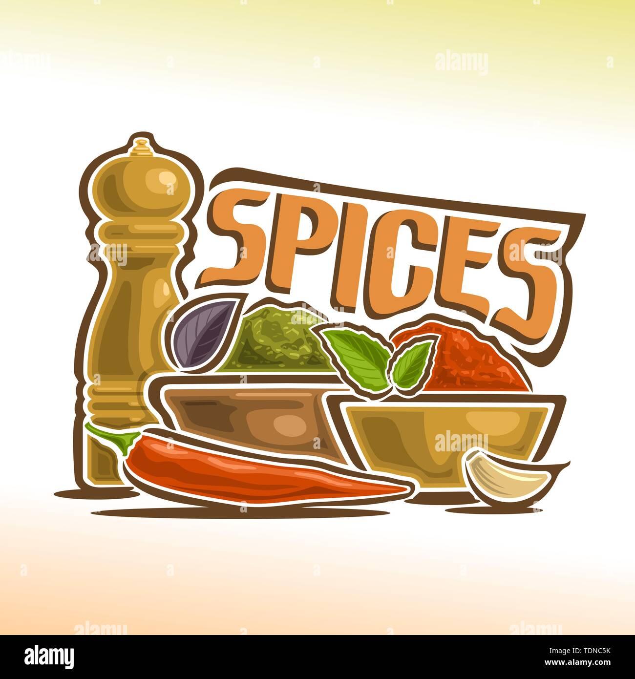 Vector logo for spices - Stock Vector