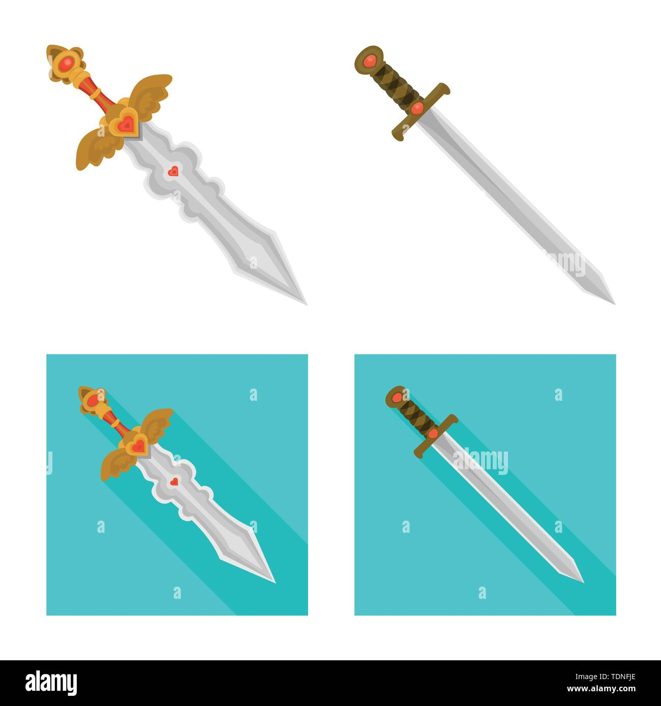 Vector design of game and armor symbol. Collection of game and blade stock vector illustration. - Stock Image