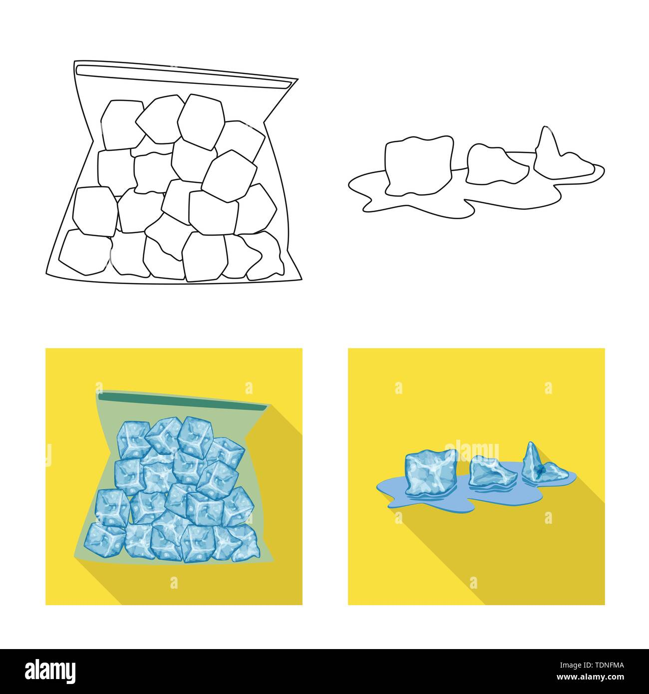 Vector design of texture and frozen sign. Collection of texture and transparent vector icon for stock. - Stock Image