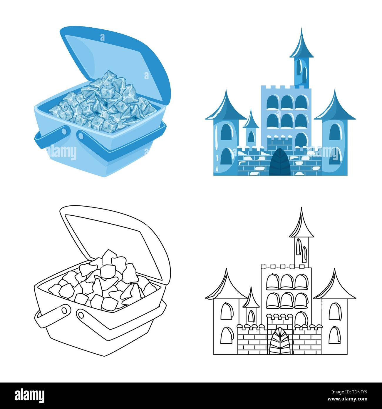 Vector design of texture and frozen symbol. Collection of texture and transparent vector icon for stock. - Stock Image
