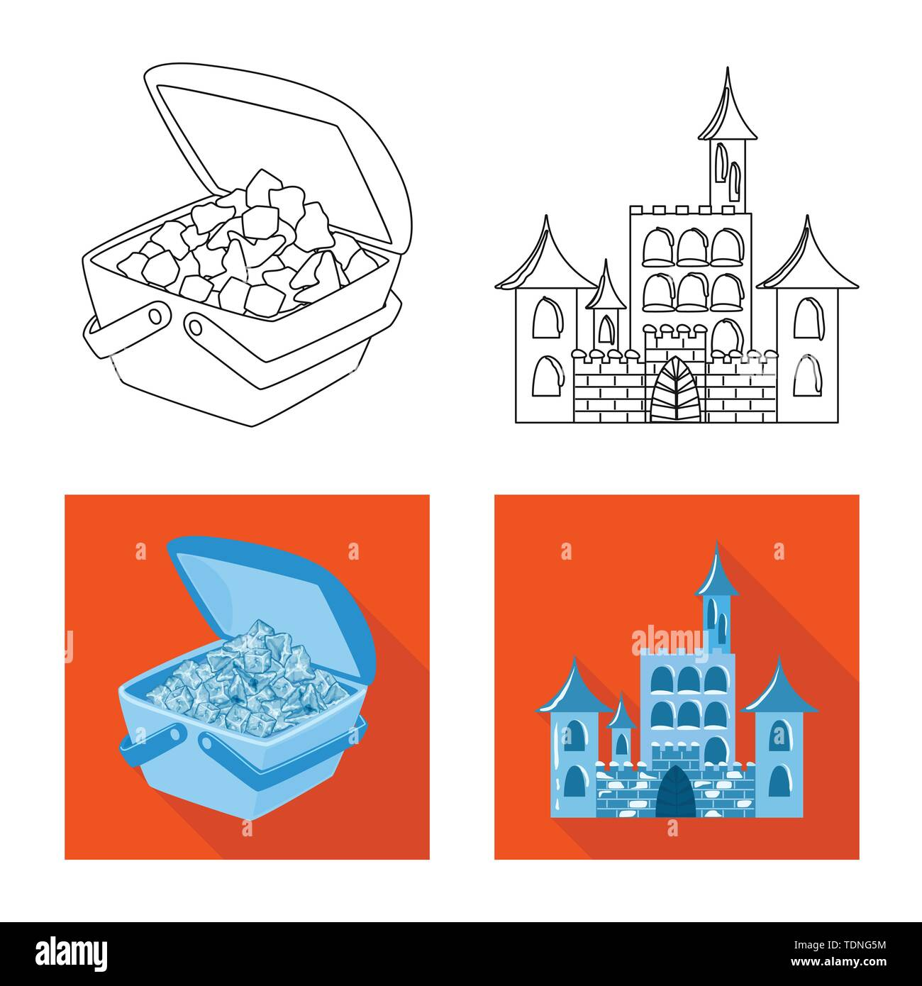 Vector illustration of texture and frozen sign. Collection of texture and transparent stock vector illustration. - Stock Image