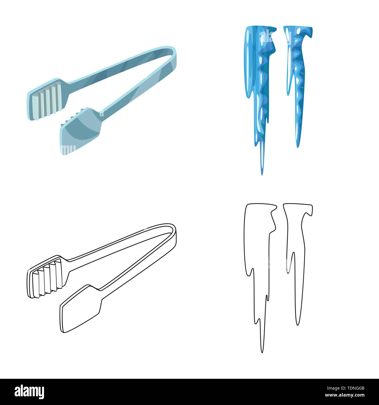 Isolated object of texture and frozen icon. Set of texture and transparent vector icon for stock. - Stock Image