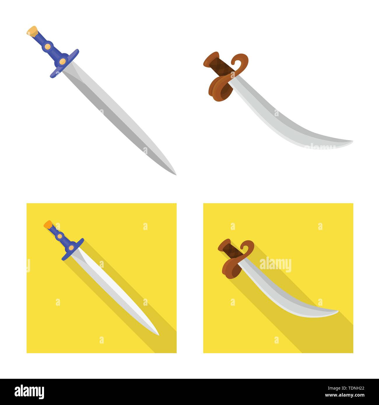 Vector illustration of game and armor logo. Set of game and blade stock vector illustration. - Stock Image
