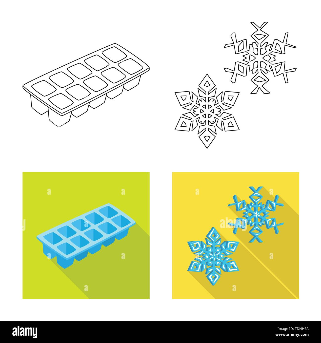 Vector illustration of texture and frozen sign. Collection of texture and transparent vector icon for stock. - Stock Image