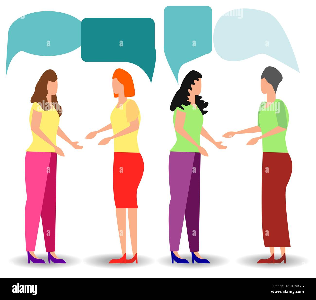social networks, chat, dialogue speech bubbles - Stock Image