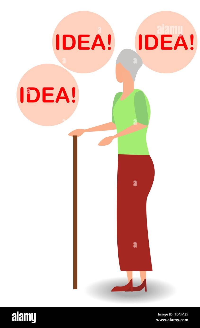 illustration of thinking idea or solution concept with fast thinking solution and idea concept. - Stock Image