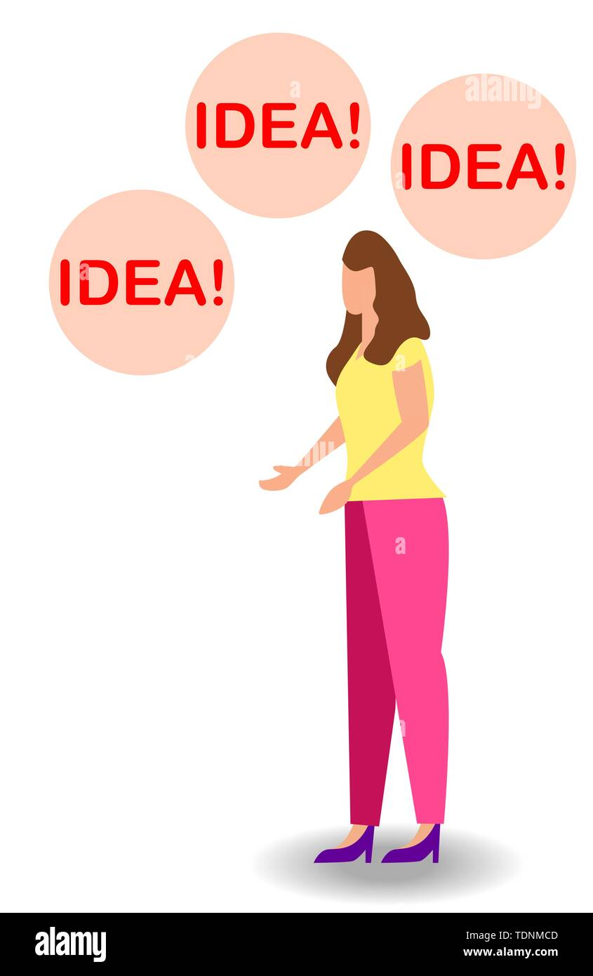 Vector illustration of thinking idea or solution concept with fast thinking solution and idea concept. - Stock Image