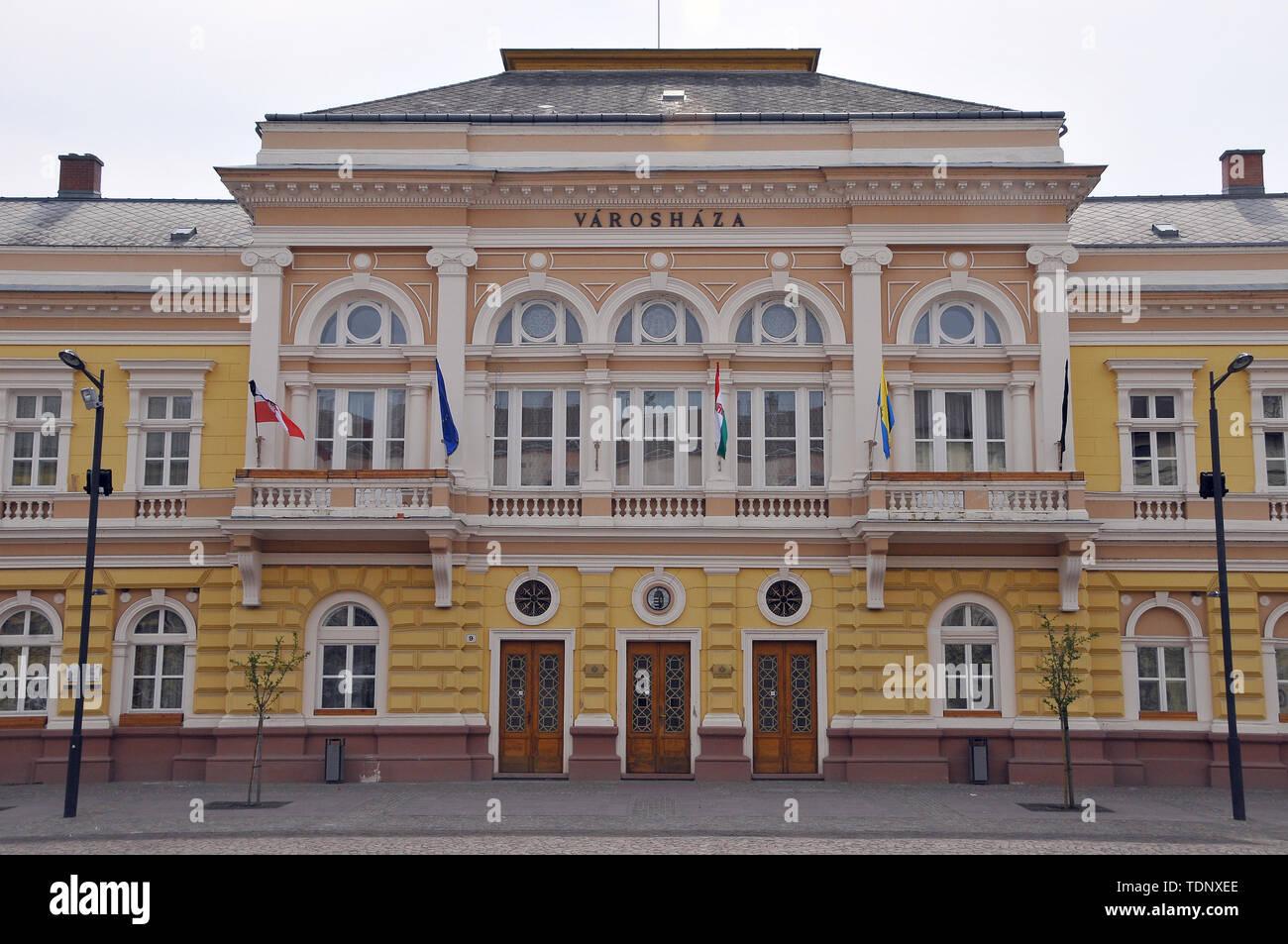City hall, Szolnok, Hungary, Magyarország, Europe - Stock Image