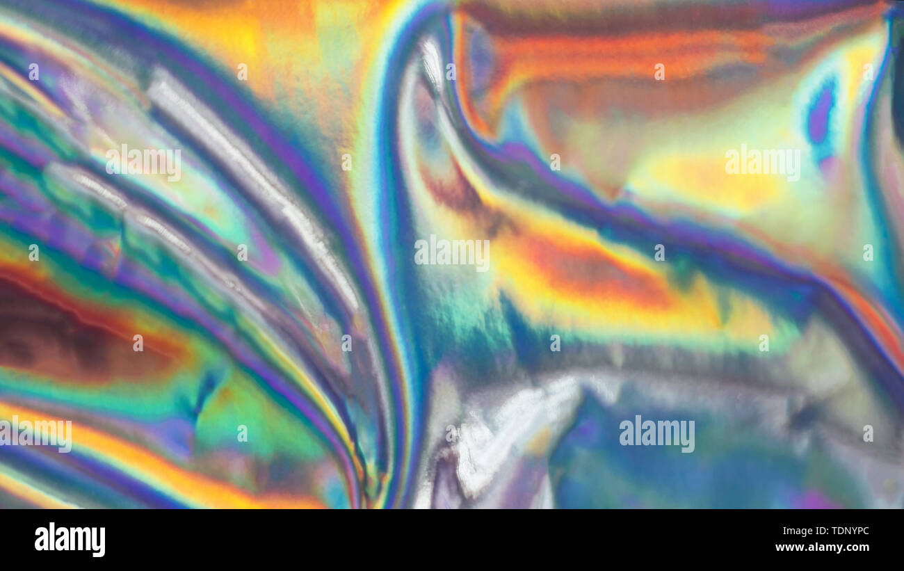 Holographic iridescent abstract blurred surface. Holographic gradient. - Stock Image
