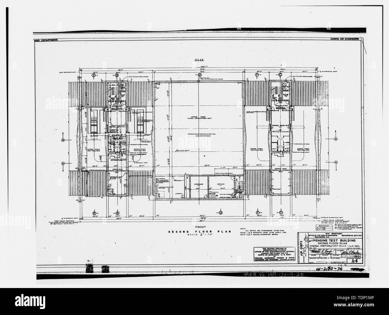 Photocopy Of Engineering Drawing May 1941 Original Drawing Located At Fairchild Air Force Base Civil Engineering Building Civil Engineering Vault Engine Test Cell Building Second Floor Plan Central Portion And Test Cells,Table Engagement Decoration Ideas At Home