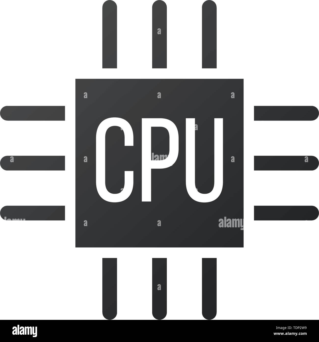 microchip icon cpu central processing unit computer processor chip symbol abstract technology logo vector illustration isolated on white stock vector image art alamy alamy