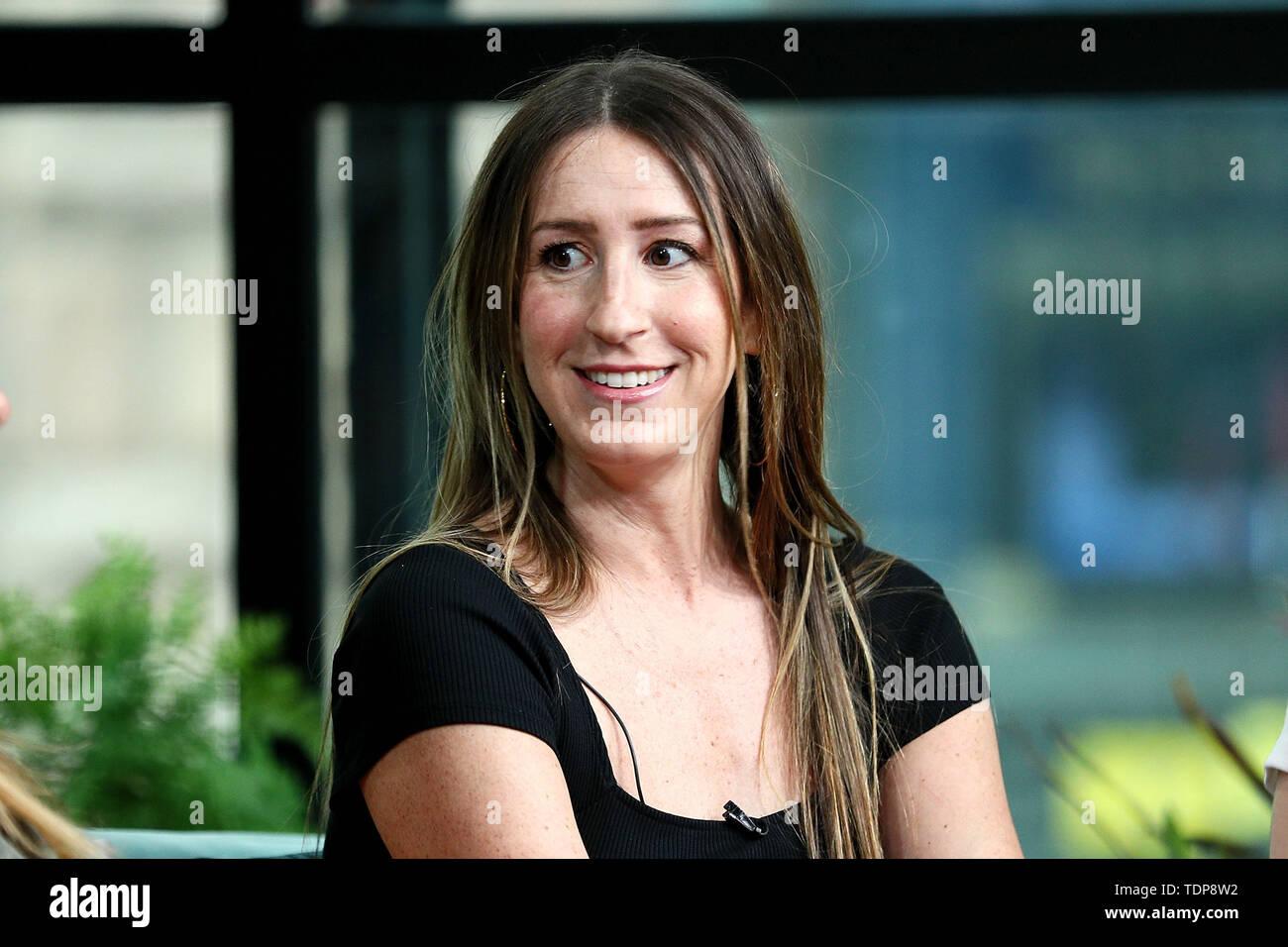 New York, USA. 17 June, 2019. Ashley Hesseltine at the BUILD Brunch Show at BUILD Studio. Credit: Steve Mack/Alamy Live News - Stock Image