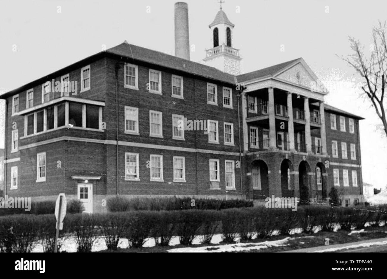 Aug 05, 1925 - Davenport, Iowa, U.S. - French Hall will be demolished next week to make way for a new parking ramp at Bridge Avenue and High Street. Maternal Health Center..(Credit Image: © Chris Delmas/ZUMA Wire) - Stock Image