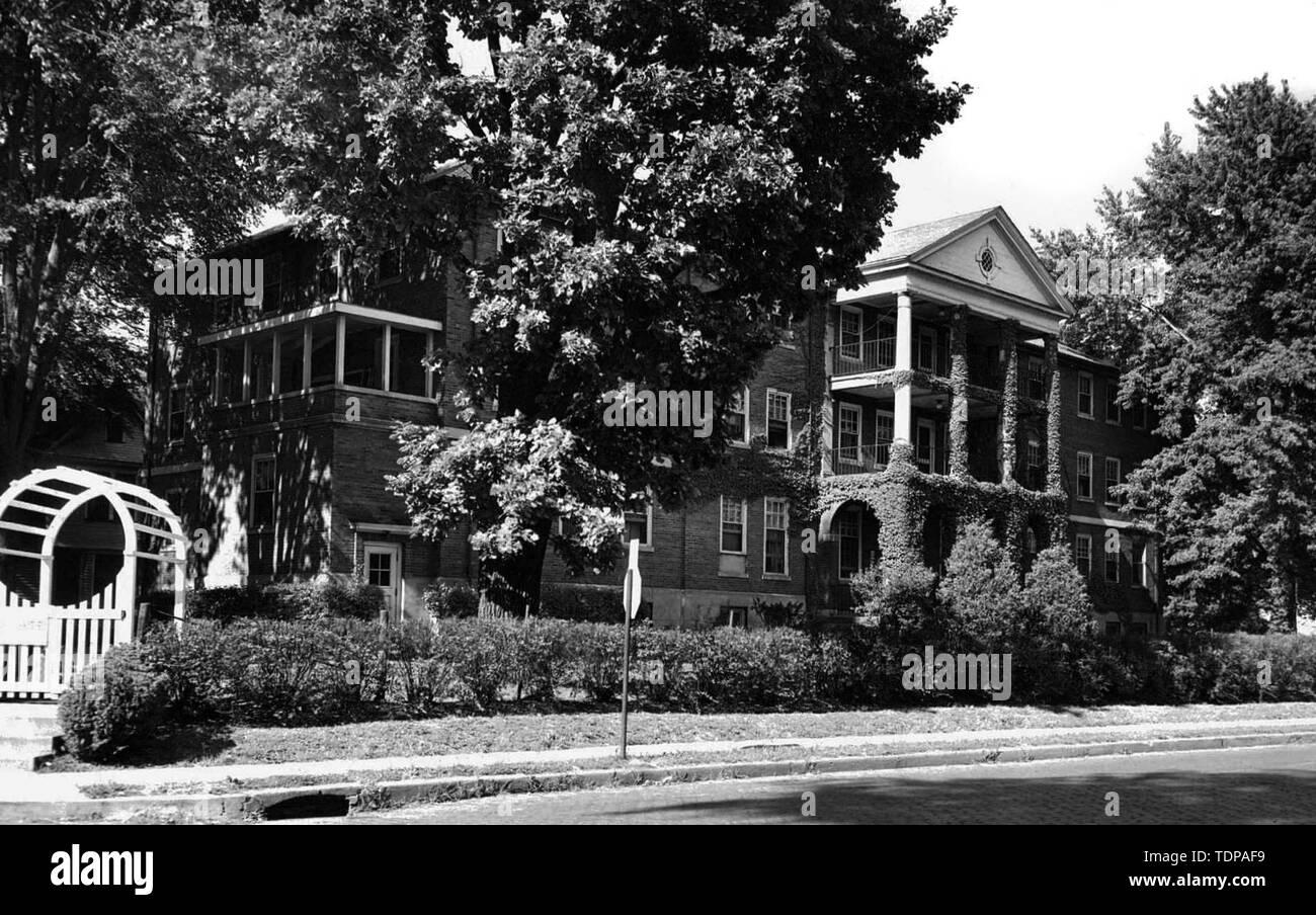 Jan 01, 1946 - Davenport, Iowa, U.S. - French Hall, St. Luke's Hospital, Davenport. Later Maternal Health Center..(Credit Image: © Chris Delmas/ZUMA Wire) - Stock Image