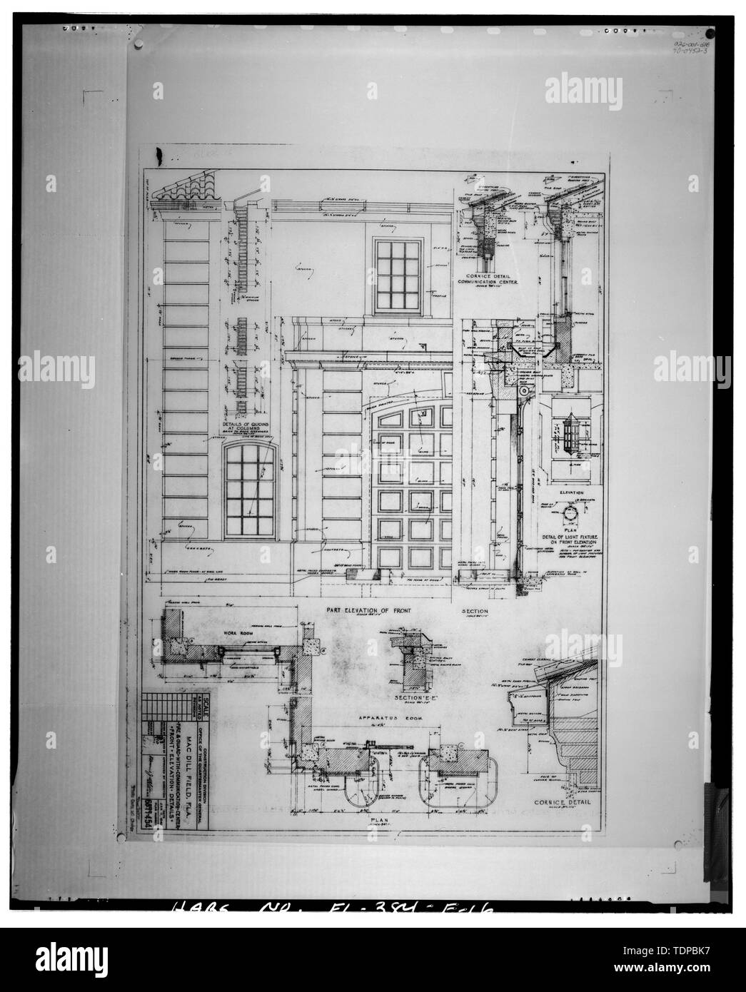 Architectural Drawings Elevation Stock Photos