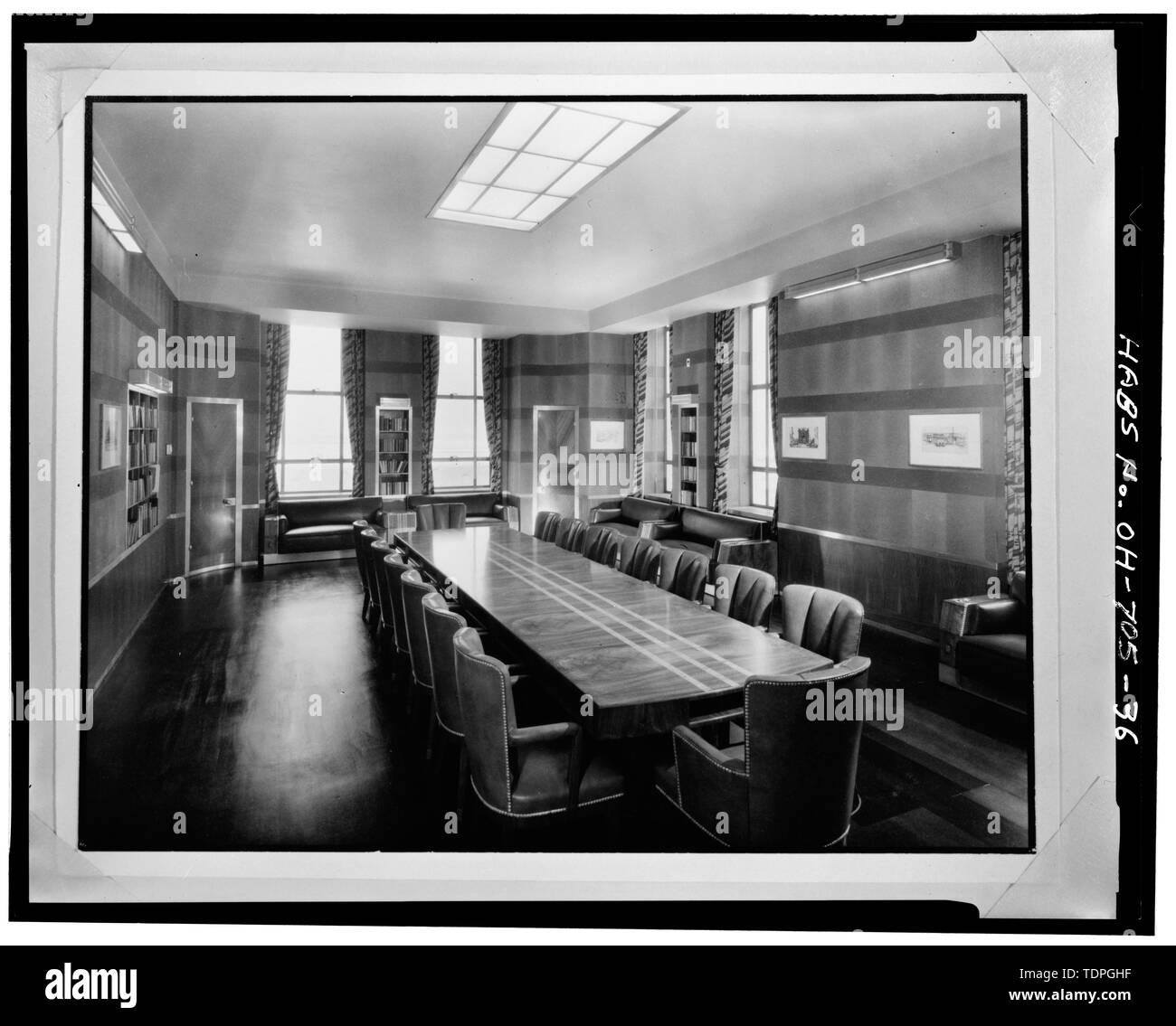 BOARD ROOM, LOOKING WEST - Cincinnati Union Terminal, 1301 Western Avenue, Cincinnati, Hamilton County, OH - Stock Image