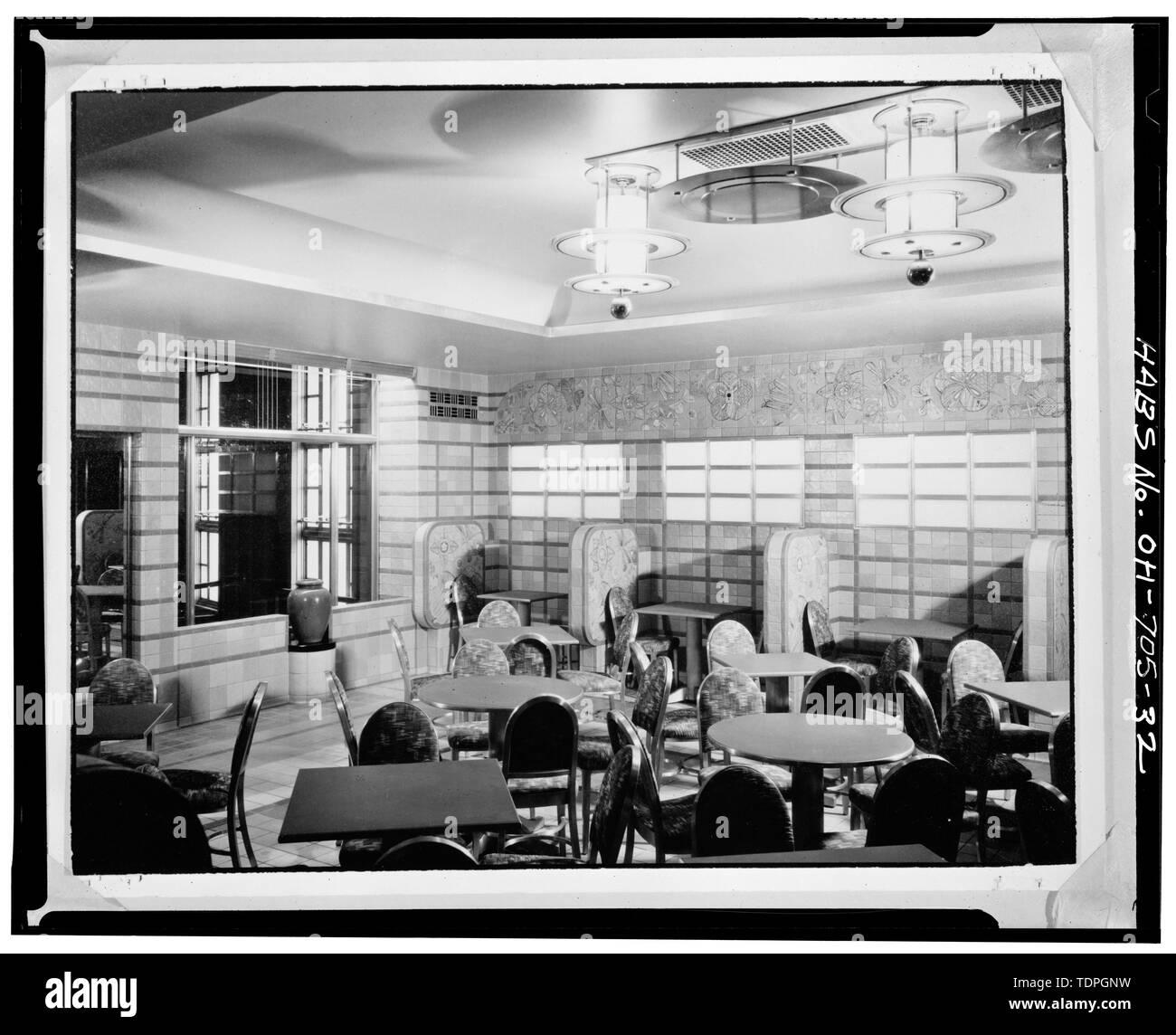 ROOKWOOD TEAROOM, LOOKING NORTHEAST - Cincinnati Union Terminal, 1301 Western Avenue, Cincinnati, Hamilton County, OH - Stock Image