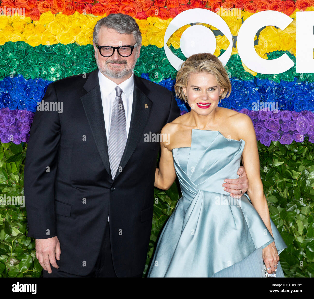 New York, NY - June 09, 2019: John Ellison Conlee and Celia Keenan-Bolger attend the 73rd Annual Tony Awards at Radio City Music Hall - Stock Image