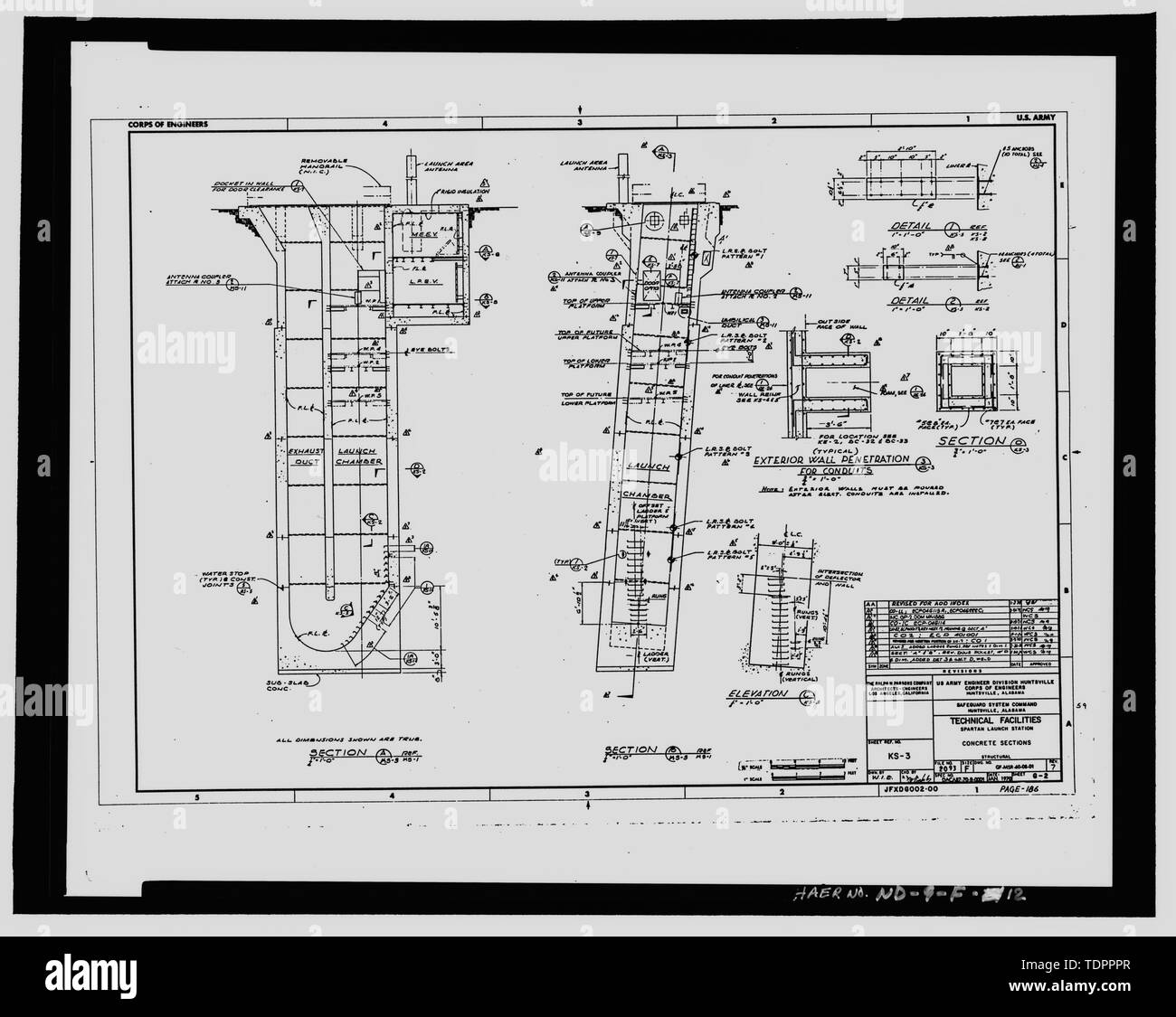 Photographic copy of original design drawing, dated January