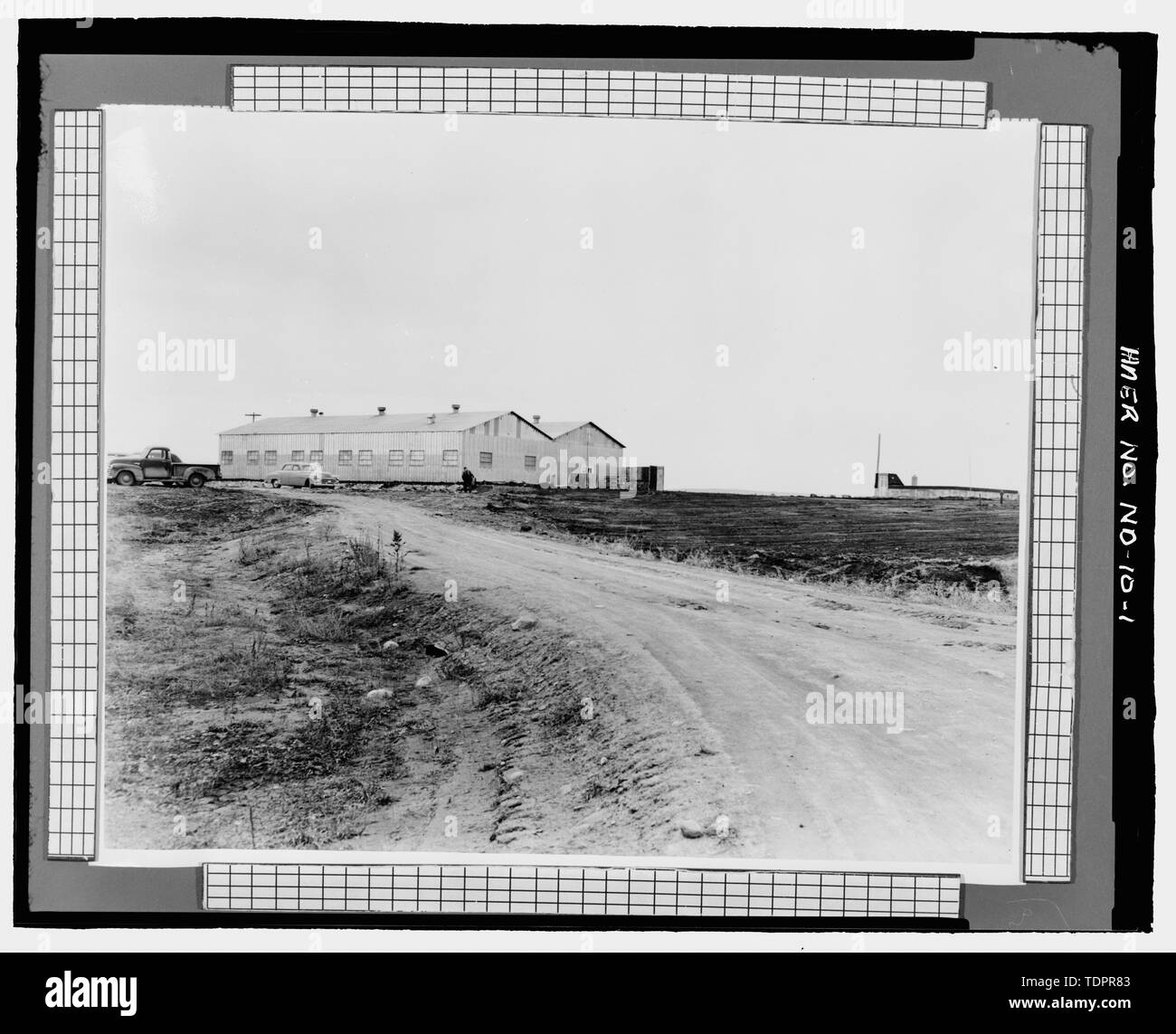 Photographic copy of photograph (mid-1950s, original print in possession of William Langer Jewel Bearing Plant, Rolla, North Dakota). VIEW OF PLANT, VIEW TO WEST. - Turtle Mountain Ordnance Plant, 213 First Street Northwest, Rolla, Rolette County, ND - Stock Image