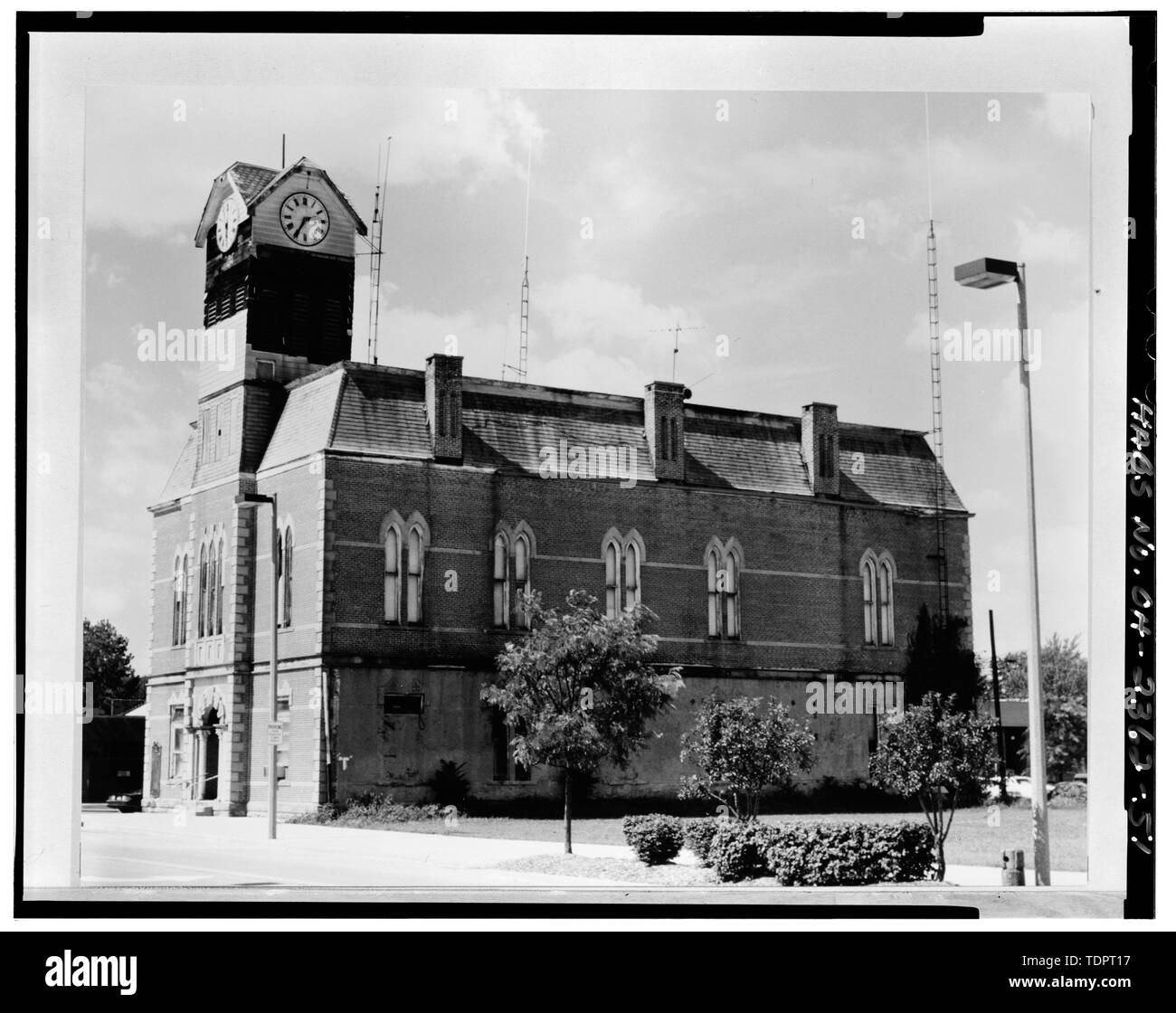 Photography of Photograph (from Planning Resources file, Sept. 1987) SE ELEVATION - Crestline City Hall, Bucyrus and Thoman Streets, Crestline, Crawford County, OH - Stock Image
