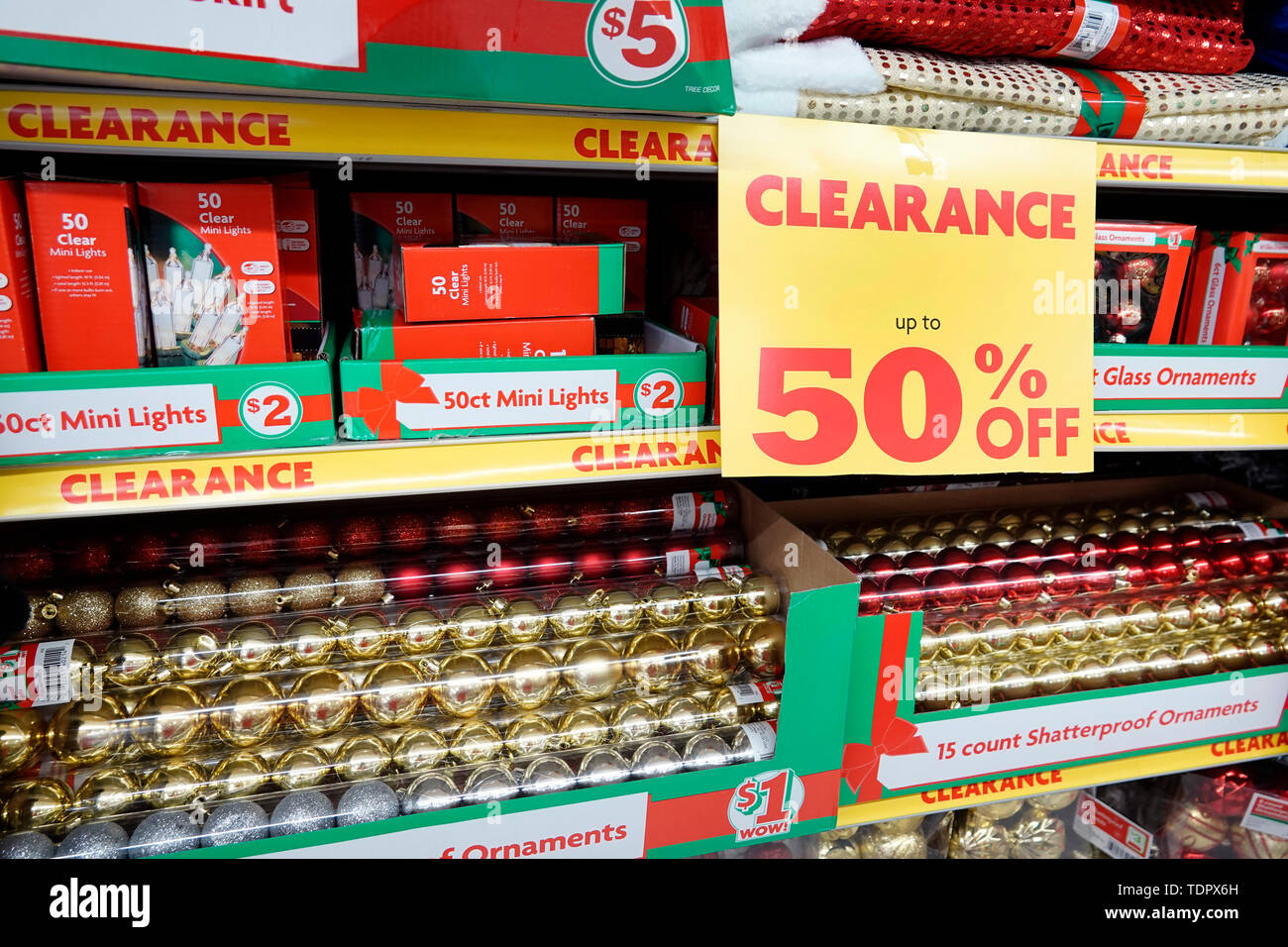 Family Dollar Christmas Trees.Miami Beach Florida Family Dollar Store Inside Display Sale