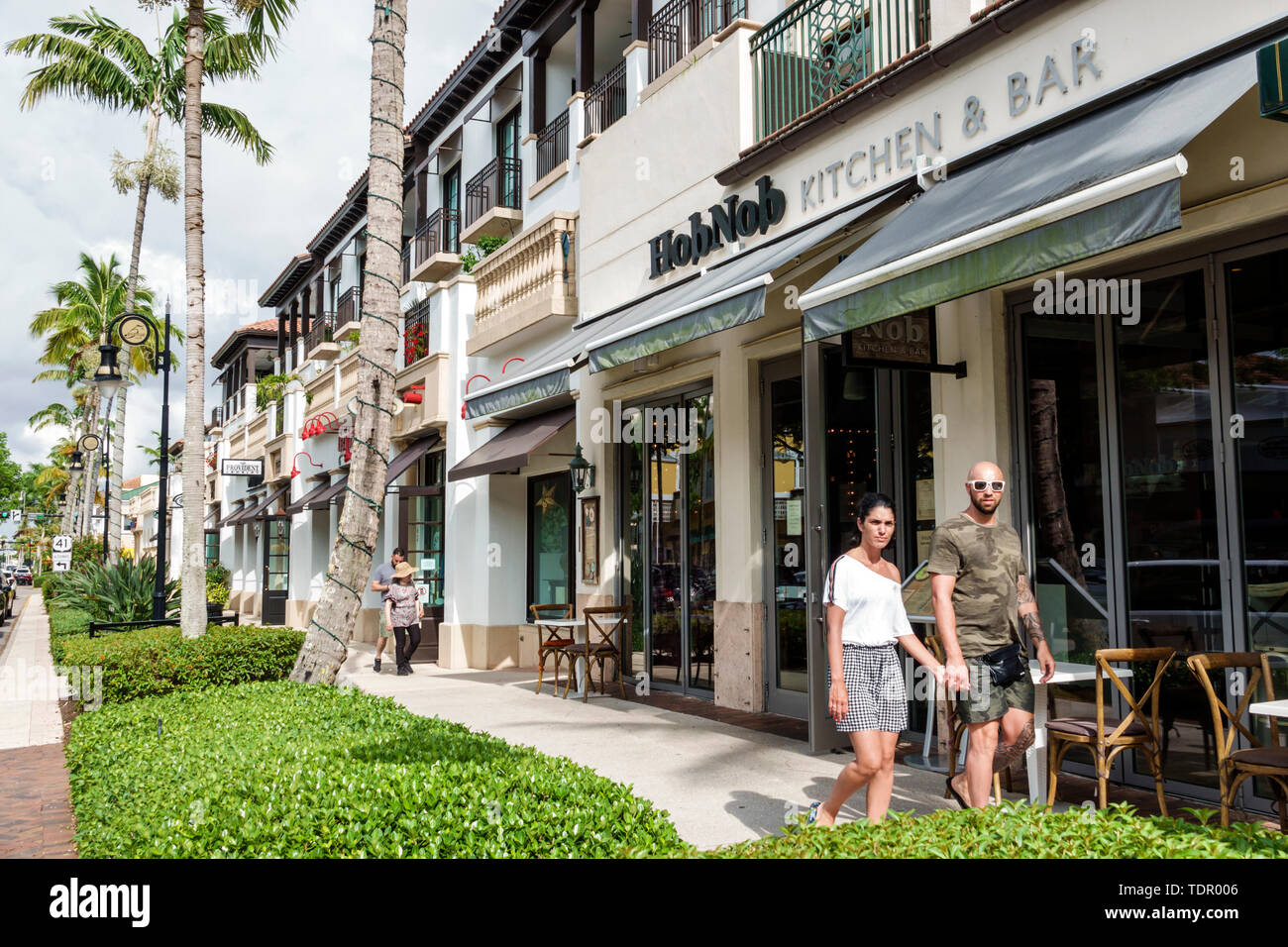 Naples Florida 5th Avenue South Shopping Commercial District