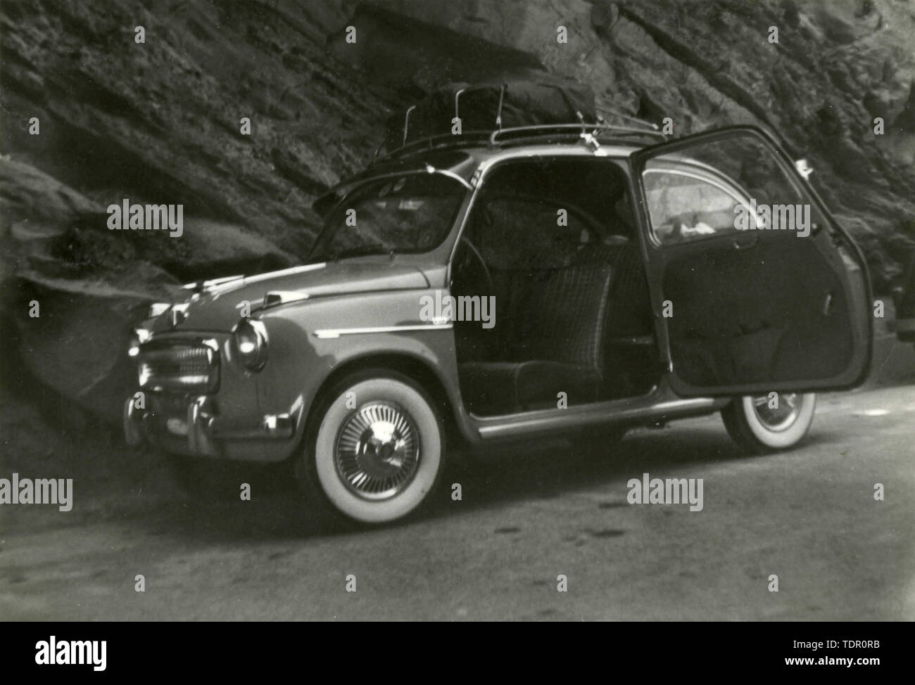 FIAT 600 car windward doors, Italy 1960s - Stock Image