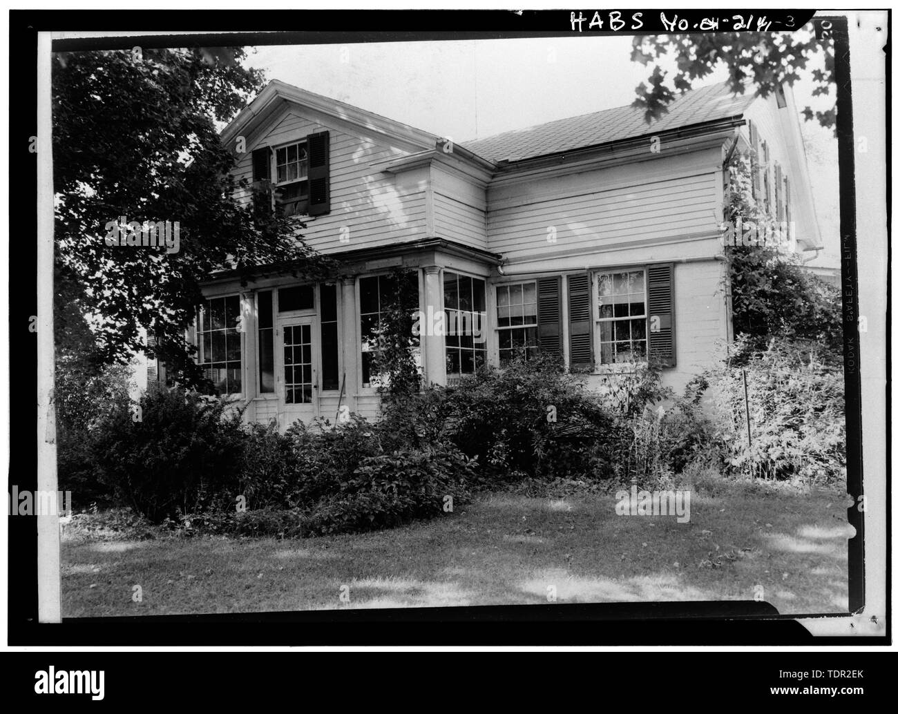Photograph of photograph by Jack E. Boucher, September 1971. SOUTHEAST ELEVATION. - Abbott-Page House, Mason Road, State Route 13 vicinity, Milan, Erie County, OH - Stock Image