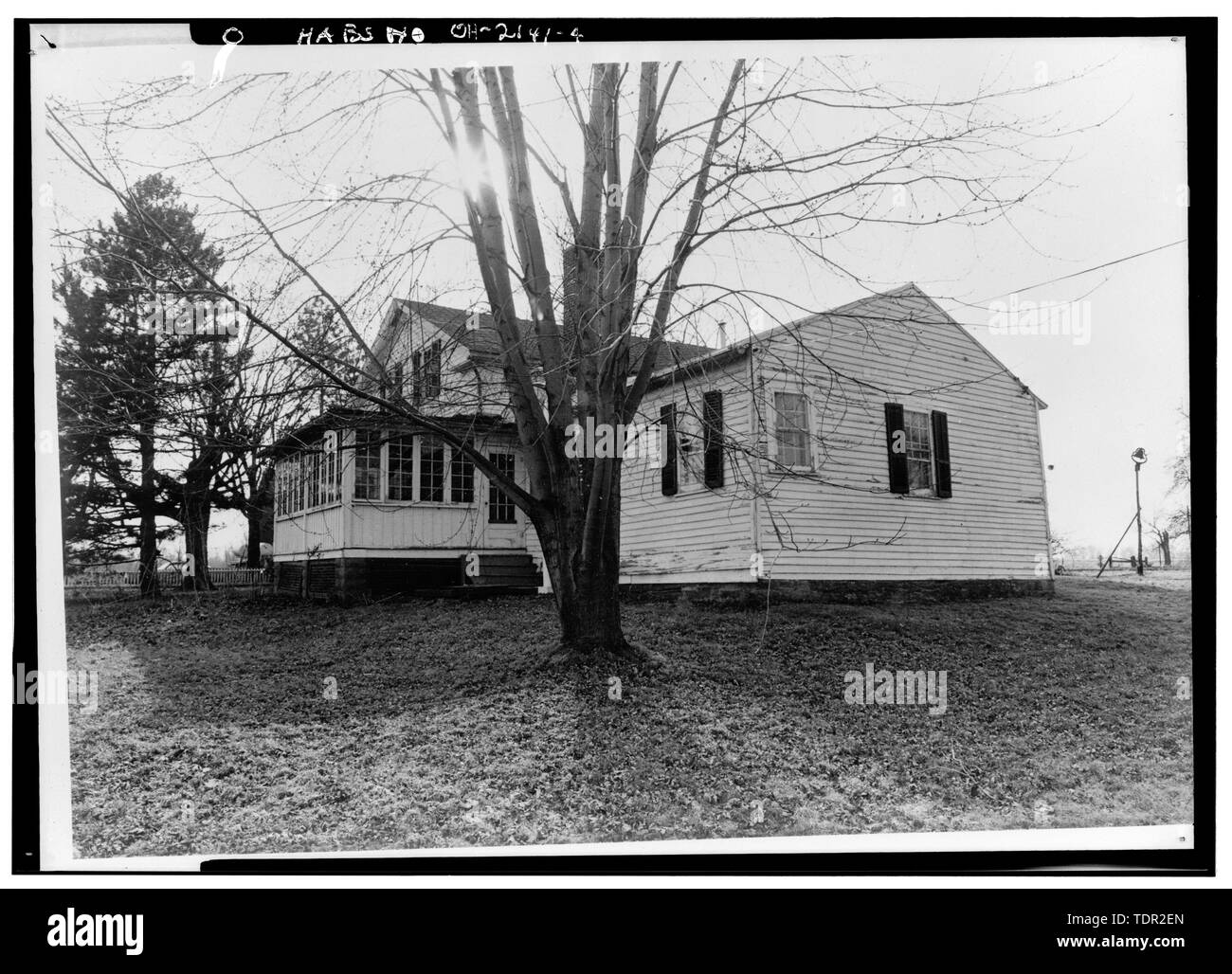 Photograph of photograph by Steckel Photographers, February 10, 1973. Original print in Field Records. NORTHEAST ELEVATION. - Abbott-Page House, Mason Road, State Route 13 vicinity, Milan, Erie County, OH - Stock Image