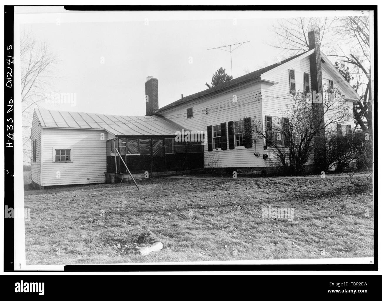 Photograph of photograph by Steckel Photographers, February 10, 1973. Original print in Field Records. NORTHWEST ELEVATION. - Abbott-Page House, Mason Road, State Route 13 vicinity, Milan, Erie County, OH - Stock Image